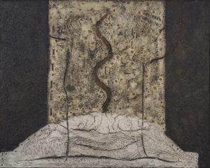 Elwyn Lynn Delta 1965 PVA on canvas, 121x152cm Courtesy of Charles Nodrum Gallery