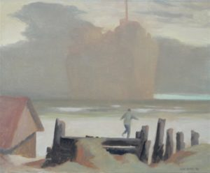 Rick Amor Study for Boy Looking at a Ship, 1998 oil on canvas, 38 x 46 cm  Image courtesy of Annette Larkin Fine Art and Niagara Galleries