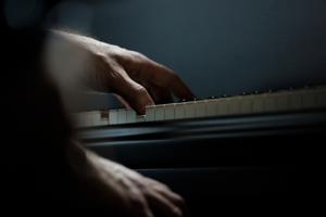 Anri Sala Ravel's Concerto for the left hand, detail. Venice Biennale 2013