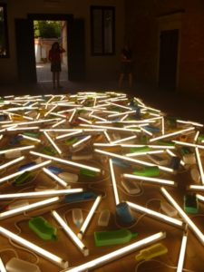 Bill Culbert installation detail from Front Door out Back 2012, Venice Biennale 2013.