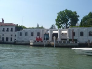 View of the Peggy Guggenheim museum from the Grand Canal, Venice.
