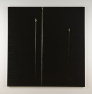 Callum Innes 3 Identified forms 2009 oil on canvas 207.5x202.5cm. Image courtesy the artist and Jensen Gallery