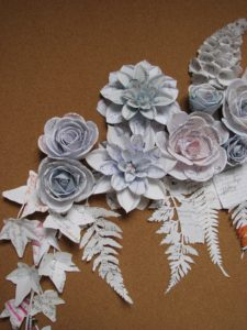 Samantha Gazal Milk and bread, detail. 2013. Paper installation. Image courtesy the artist