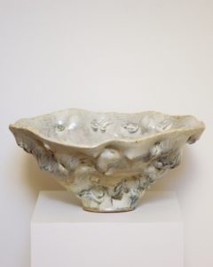 Donna Green Temple white bowl 2014. clay. 24x52x48cm Image courtesy the artist and Utopia Art Sydney
