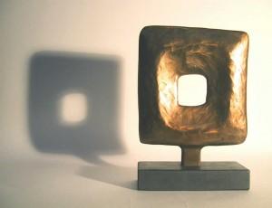 Marea Gazzard Kythera 2004 bronze on slate ed of 5 23.5x16.5x3.1cm. Image courtesy the Estate of the Artist and Utopia Art Sydney