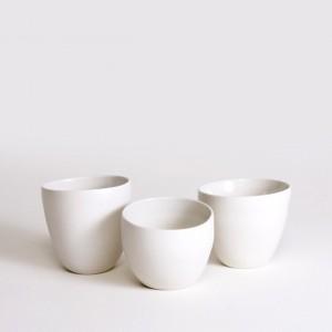 Szilvia Gyorgy handthrown mug off centre. porcelain. Image courtesy the artist and Planet Furniture.