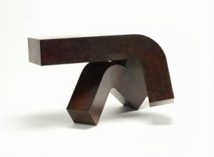 Clement Meadmore Overhang 1986. bronze 2/6 52x70x46cm. Gift of Danny & Lisa Goldberg 2013. Donated through the Aust Govt's Cultural Gifts Program