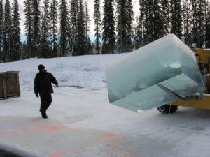 Tavares Strachan, Ice walk 2004-05. Chromogenic photograph. Image courtesy the artist and Ronald Feldman Fine Arts
