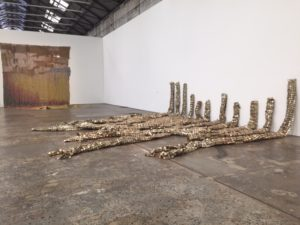 El Anatsui Five Decades, installation view, Carriageworks Sydney