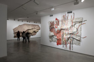 El Anatsui installation view, Museum of Contemporary Art, 18th Biennale of Sydney 2012