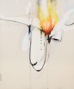 Henry Curchod Minor turbulence 2014, oil, enamel, ink & charcoal on canvas. 183x152cm. Image courtesy the artist and AGNSW