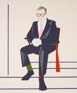 Mitch Cairns, Portrait of Reg Richardson 2014, oil on linen, 122x102cm. Image courtesy the artist & AGNSW.