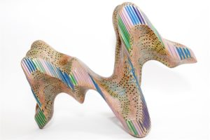 Lionel Bawden The monsters (apocryphal geographies),  2007  coloured Staedtler pencils, epoxy, pale boiled linseed oil  27x57x41 cm  Image courtesy Annette Larkin Fine Art