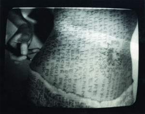 Nil Yalter The belly dance, 1974 video still, detail
