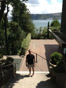 Entry to Sabanci Museum, with DFT and the Bosphorus in the background