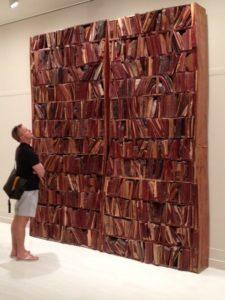 Manolo Valdes Bookcase, 2011 carved, glued wood