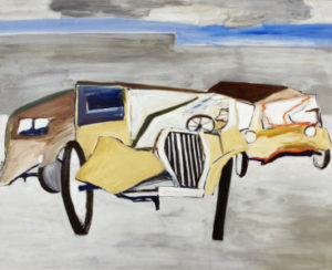 Ken Whisson Domestic machine 1974 oil on board 85x104.8cm Mary Turner Collection Orange Regional Gallery