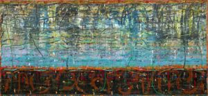 Michael Johnson After Sirius 1987-88 oil on linen 198.5 x 214.0cm Collection AGNSW