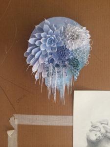 Samantha Gazal paper sculpture. Image courtesy the artist and Butcher's Hook.