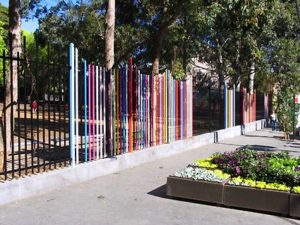Nuha Saad, Skippedy skip fence, commission for Glebe Primary School