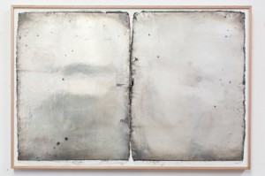 Coen Young First mirrors 2014, acrylic, enamel and silver nitrate on paper. Image courtesy the artists and WW Projects