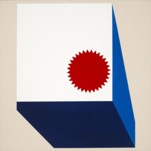 Peter Atkins Size matters 2012 acrylic on canvas 61x61cm. Image courtesy the artist and Martin Browne Contemporary