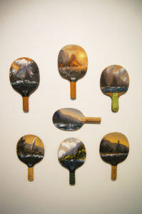 Paul Ryan ping pong landscapes, 2014. Installation shot. Image courtesy the artist and Olsen Irwin