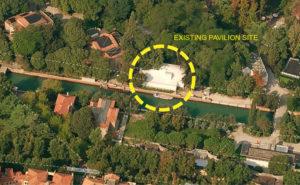 Aerial view, site of Australian Pavilion in Giardini